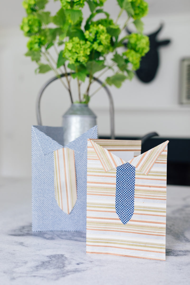 Eva Amurri shares her DIY Shirt & Tie Cards for Father's Day