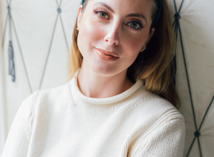 Eva Amurri Martino in bronzed glowy makeup