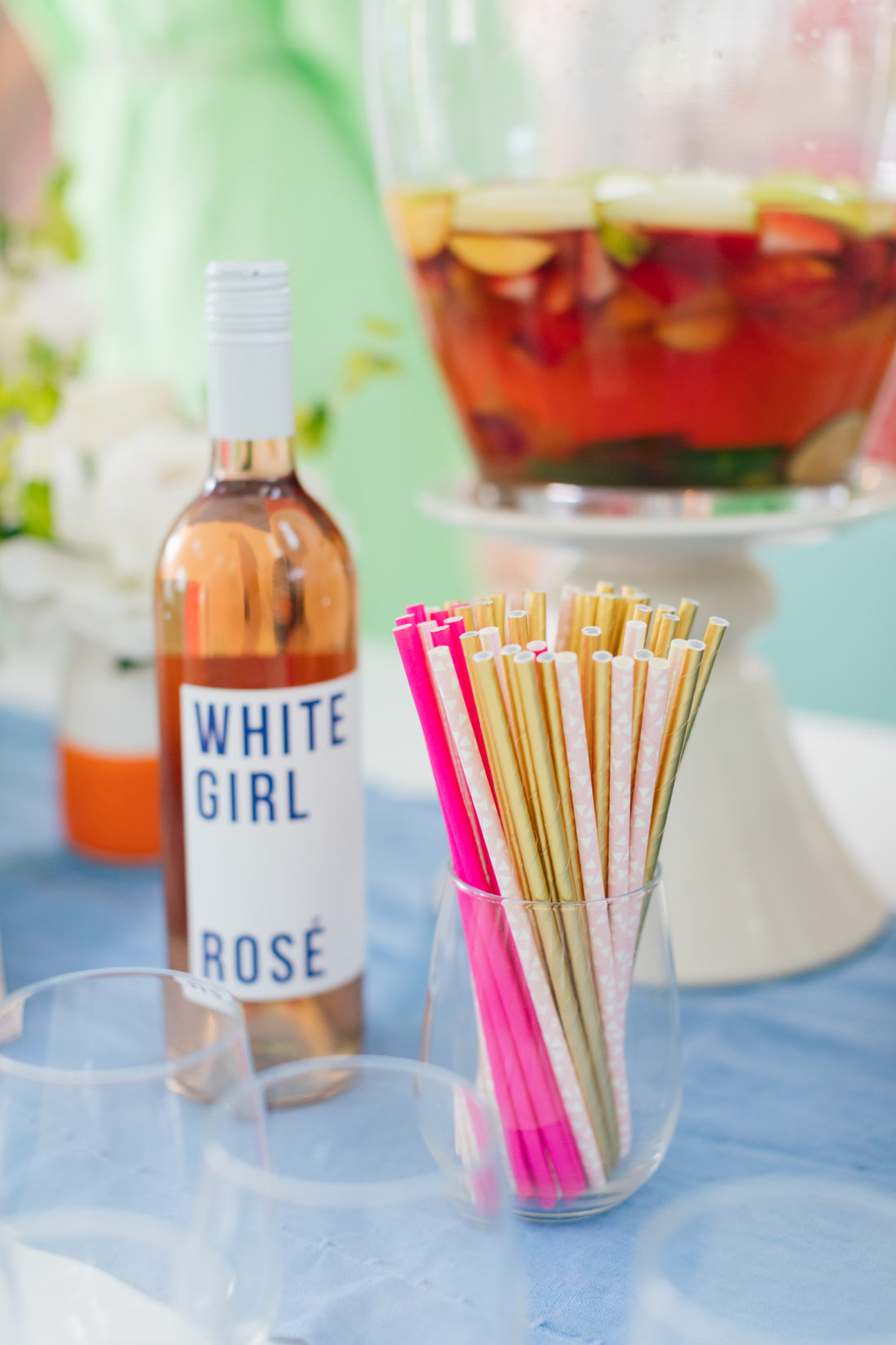 Eva Amurri Martino serving White Girl Rose at the Happily Eva After Kickoff party