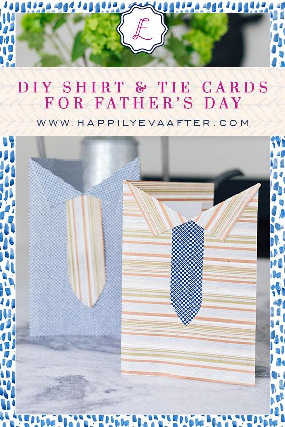 Eva Amurri shares a DIY for Shirt & Tie Cards for Father's Day
