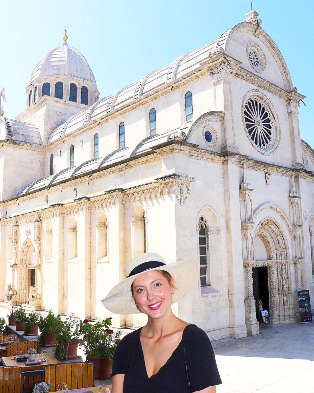 Eva Amurri Martino sight sees in Sibenik Croatia