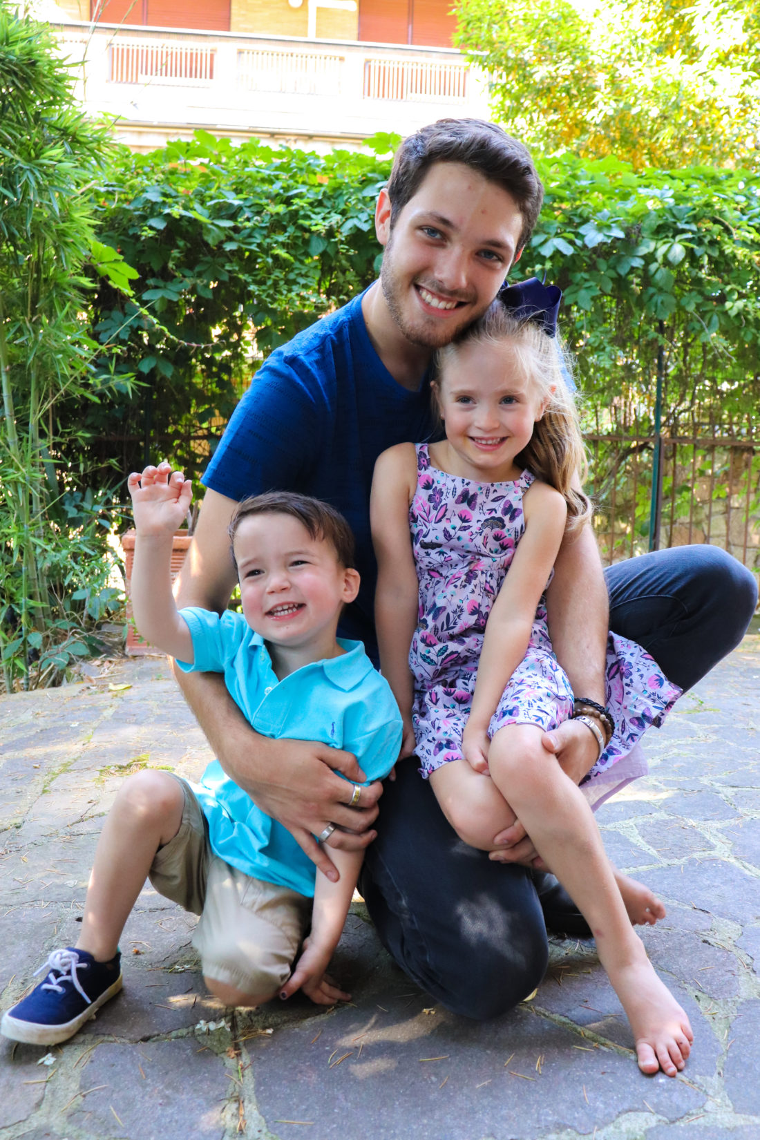 Eva Amurri Martino's brother Leoné with her children Marlowe and Major