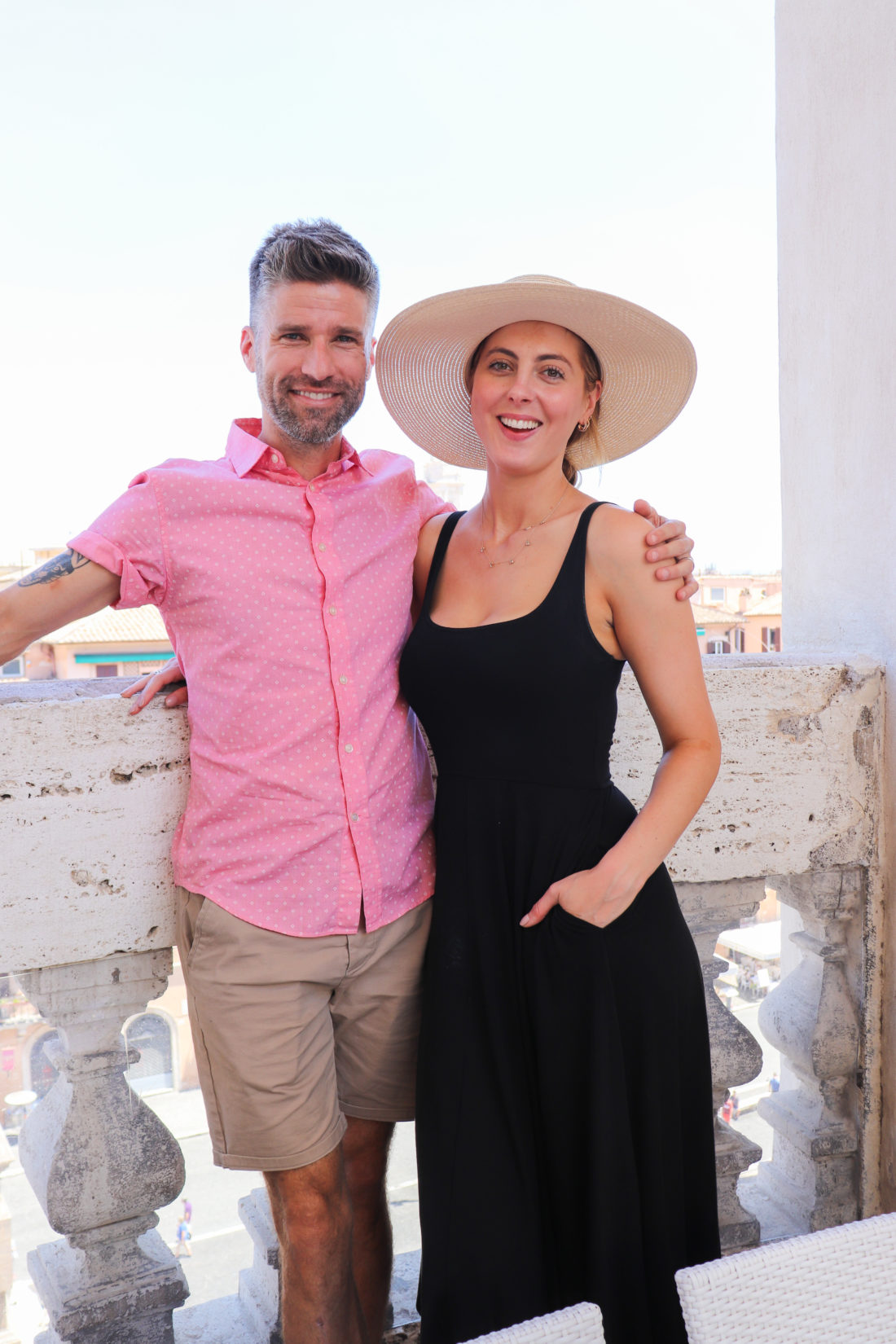 Eva Amurri Martino and husband Kyle in Italy