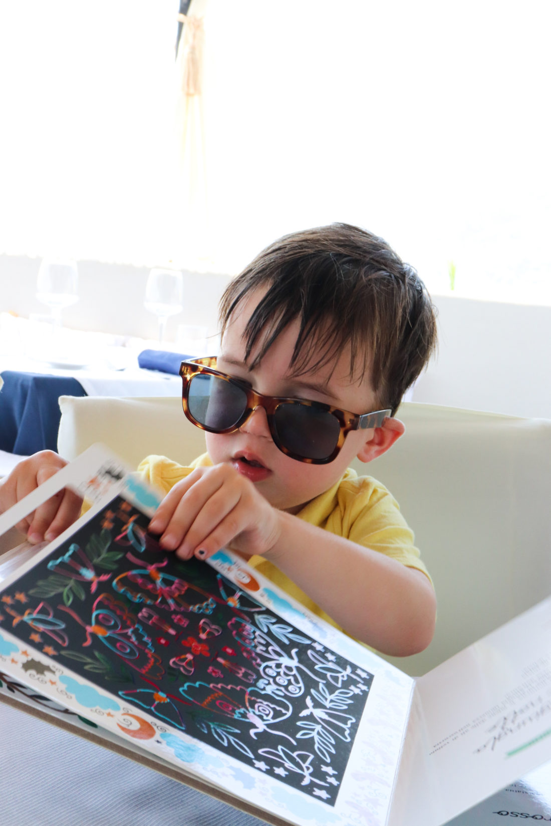 Eva Amurri Martino's son Major wears sunglasses in Amalfi
