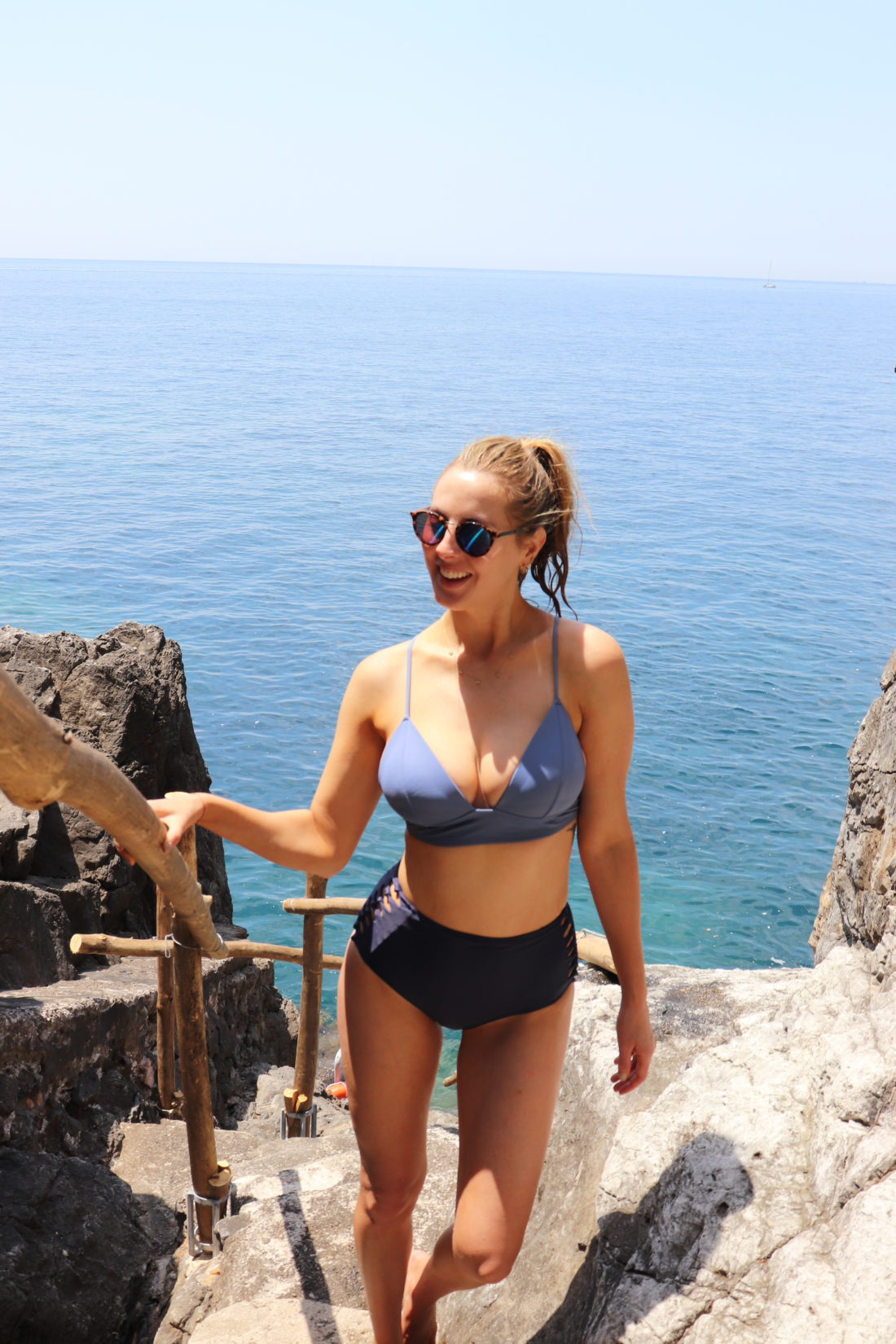 Eva Amurri Martino in a bikini in the Amalfi Coast