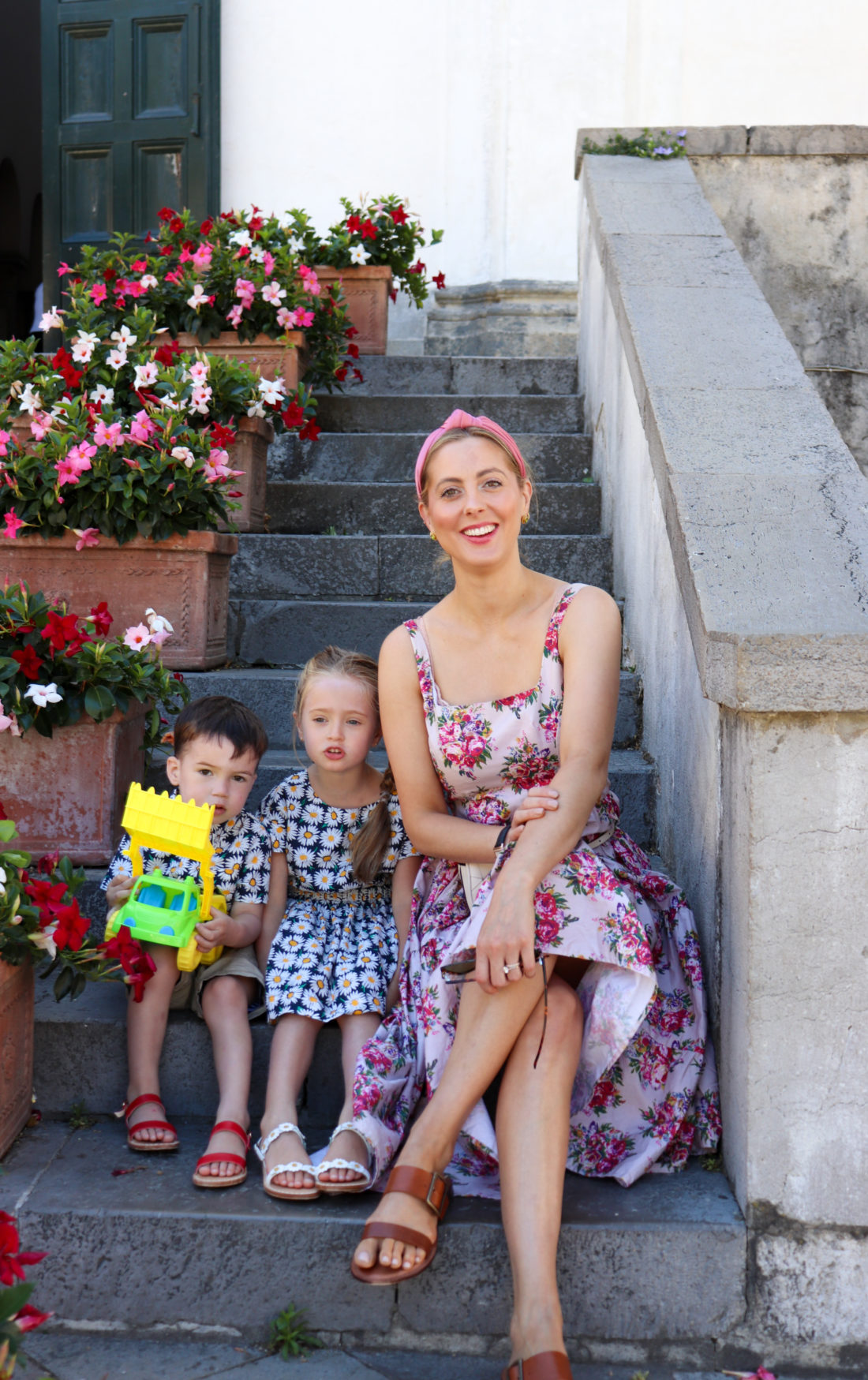 Eva Amurri Martino and her kids Marlowe and Major in Rome