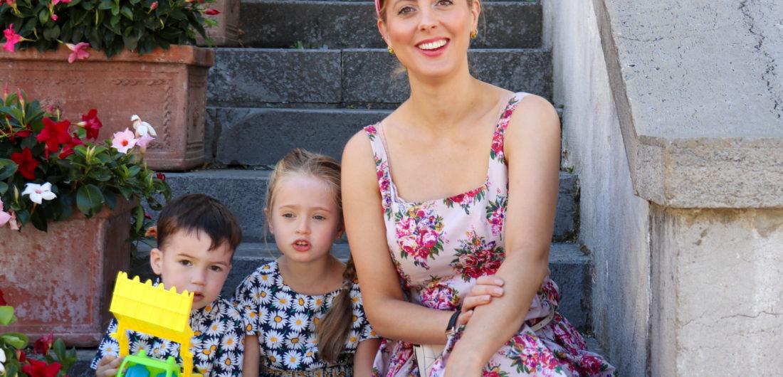 Eva Amurri Martino and her kids Marlowe and Major in Rome