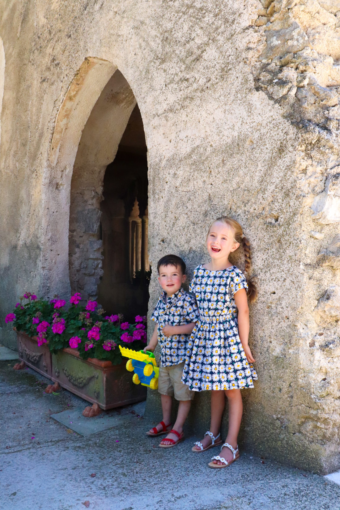 Marlowe Martino and brother Major in the Amalfi Coast