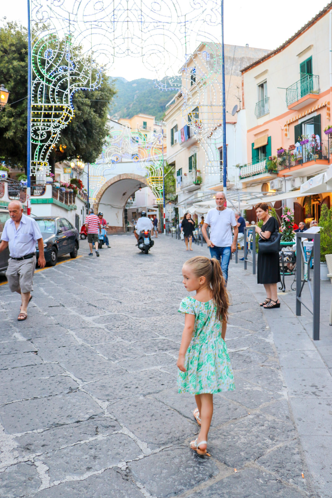 Marlowe Martino walking around Amalfi