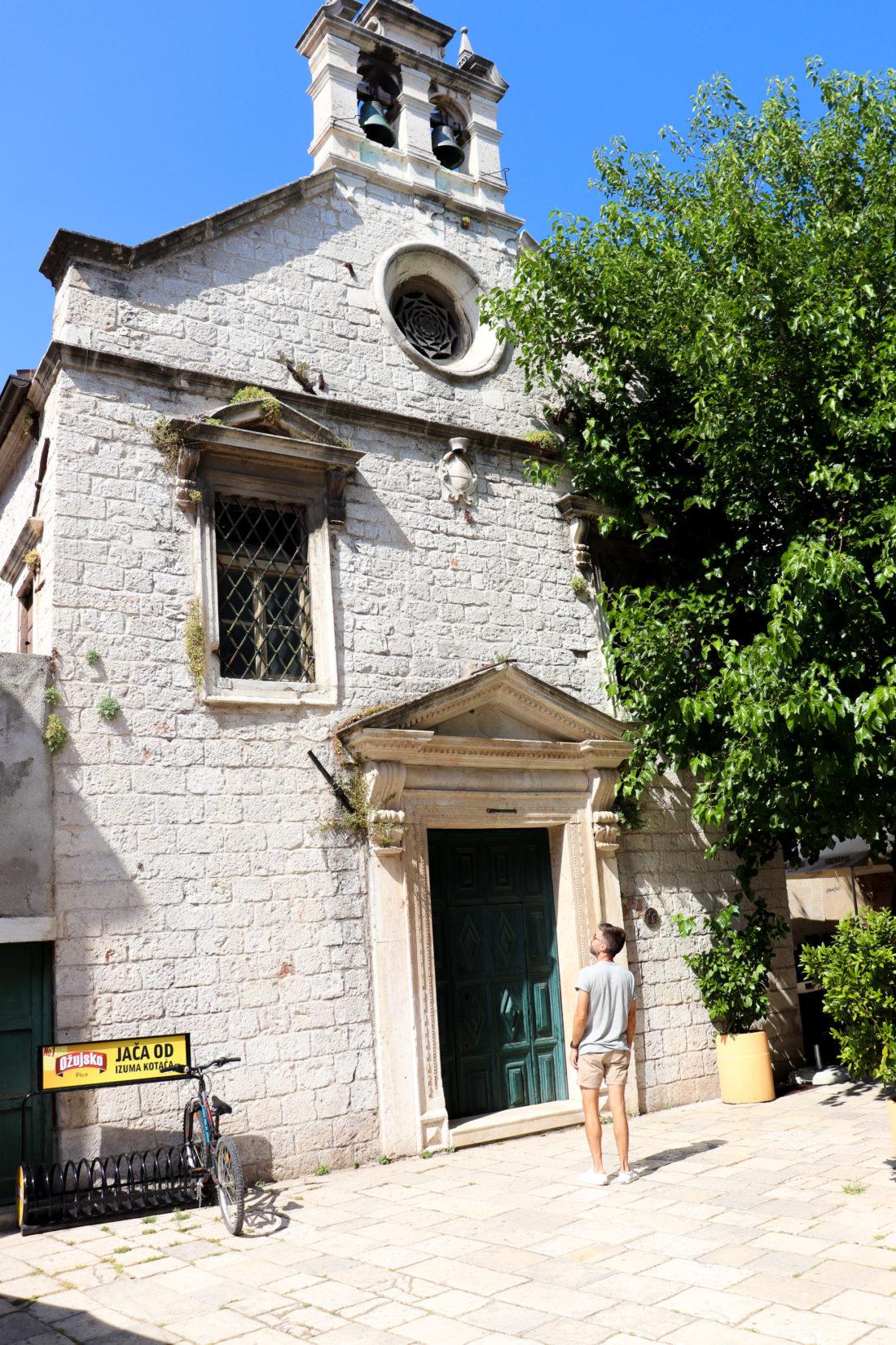 Kyle Martino sight sees in Sibenik Croatia