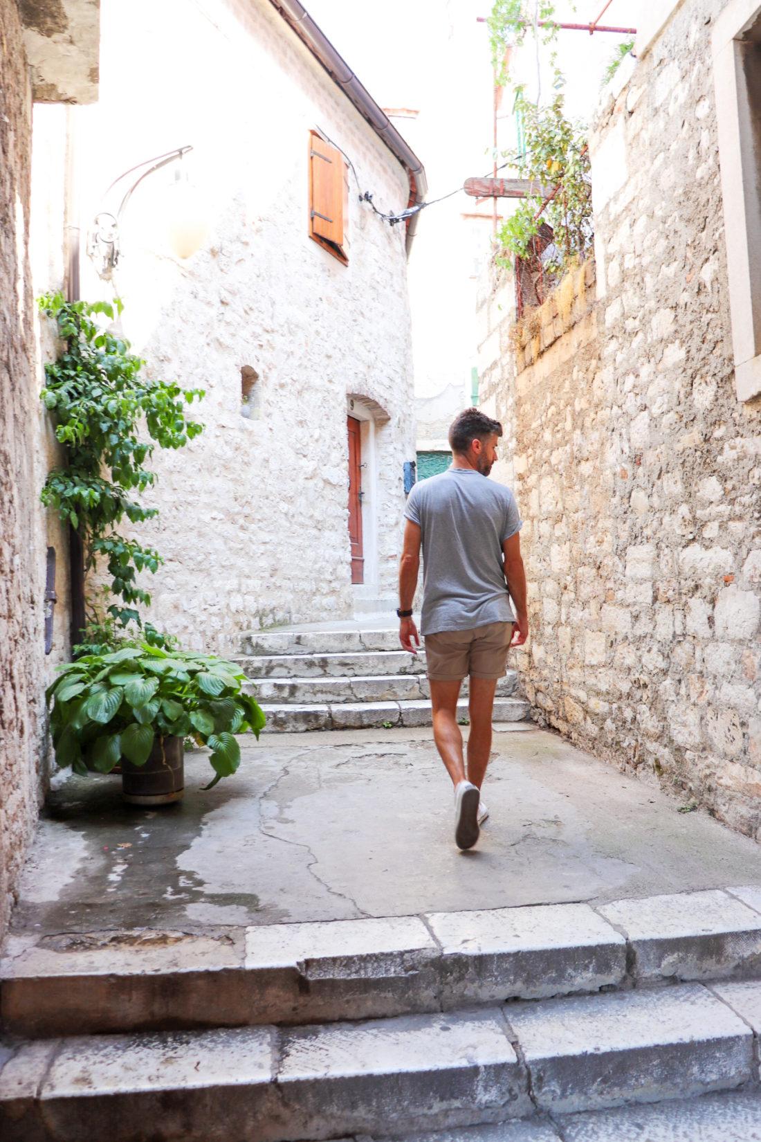 Kyle Martino walks through Sibenik Croatia