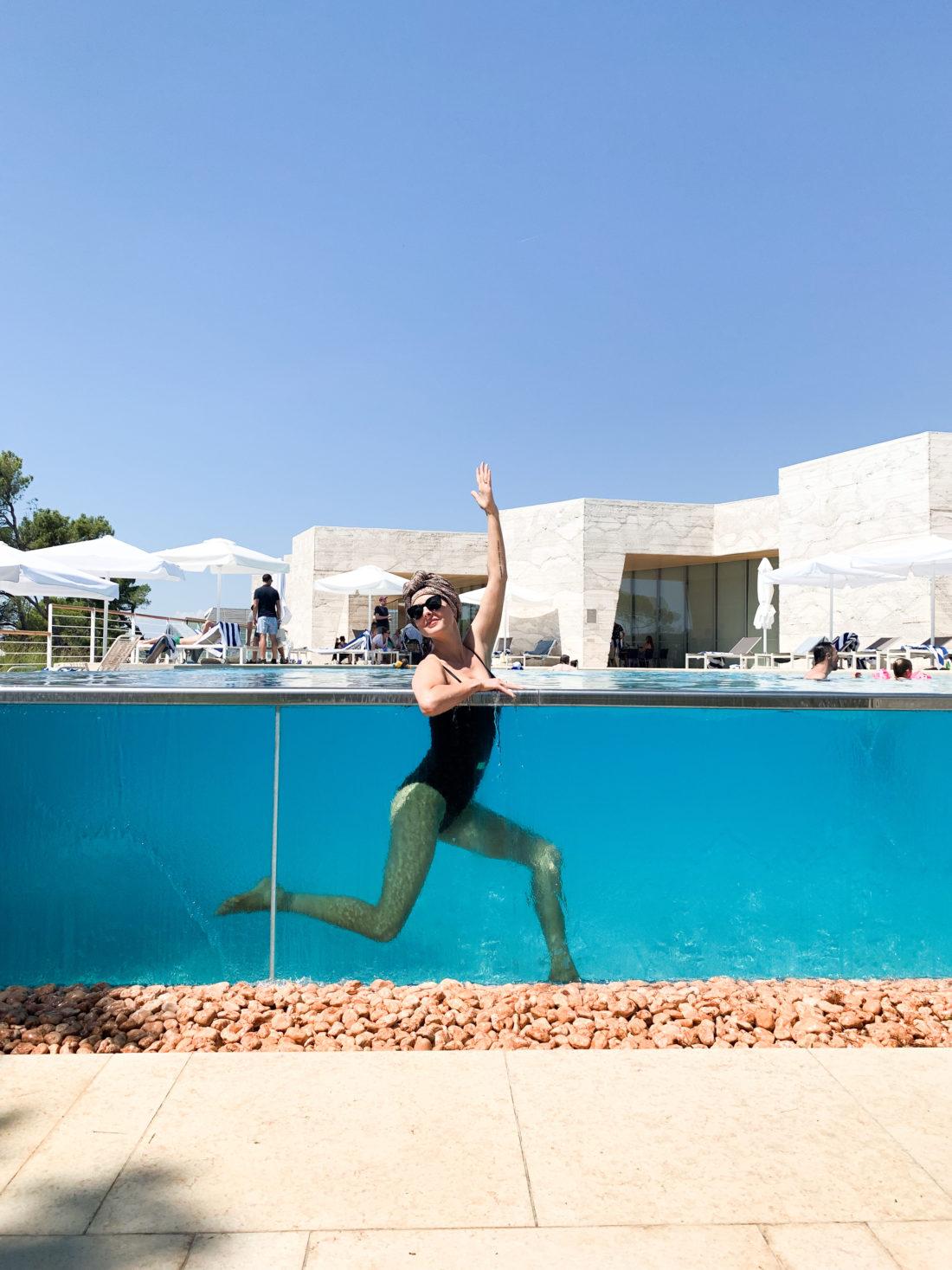 Eva Amurri Martino in a pool in Croatia