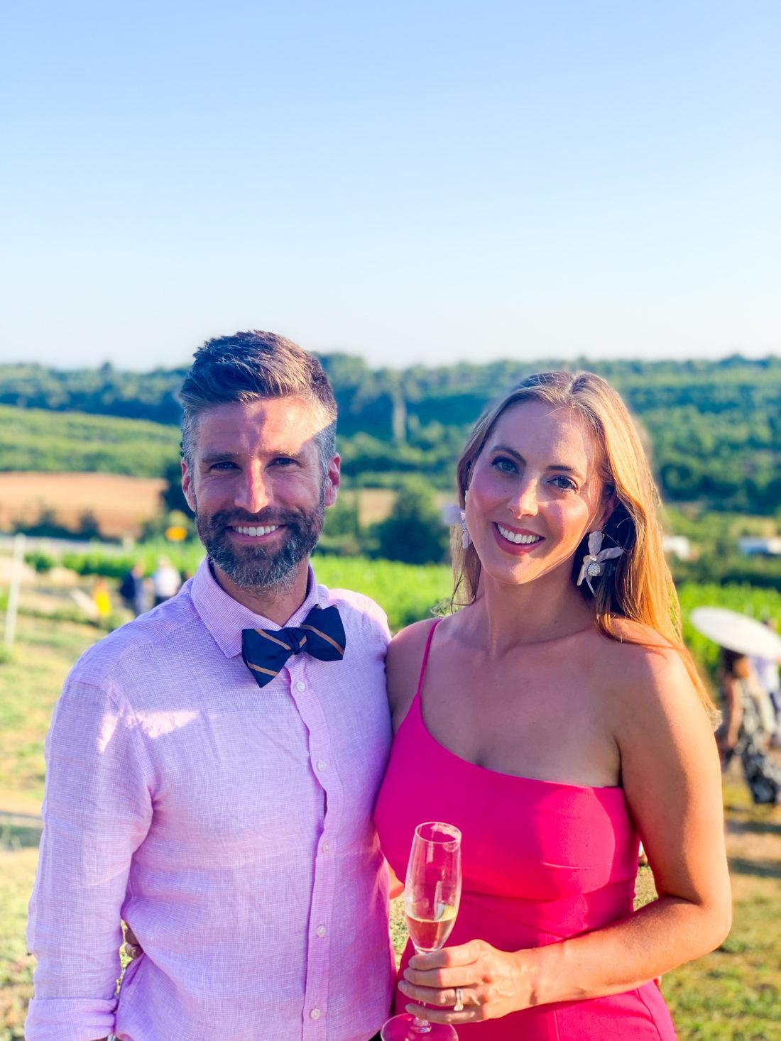 Eva Amurri Martino and husband Kyle at a wedding in Croatia