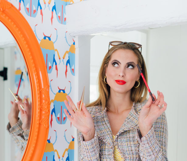 Eva Amurri Martino shares her makeup tutorial for a bold summer red lip