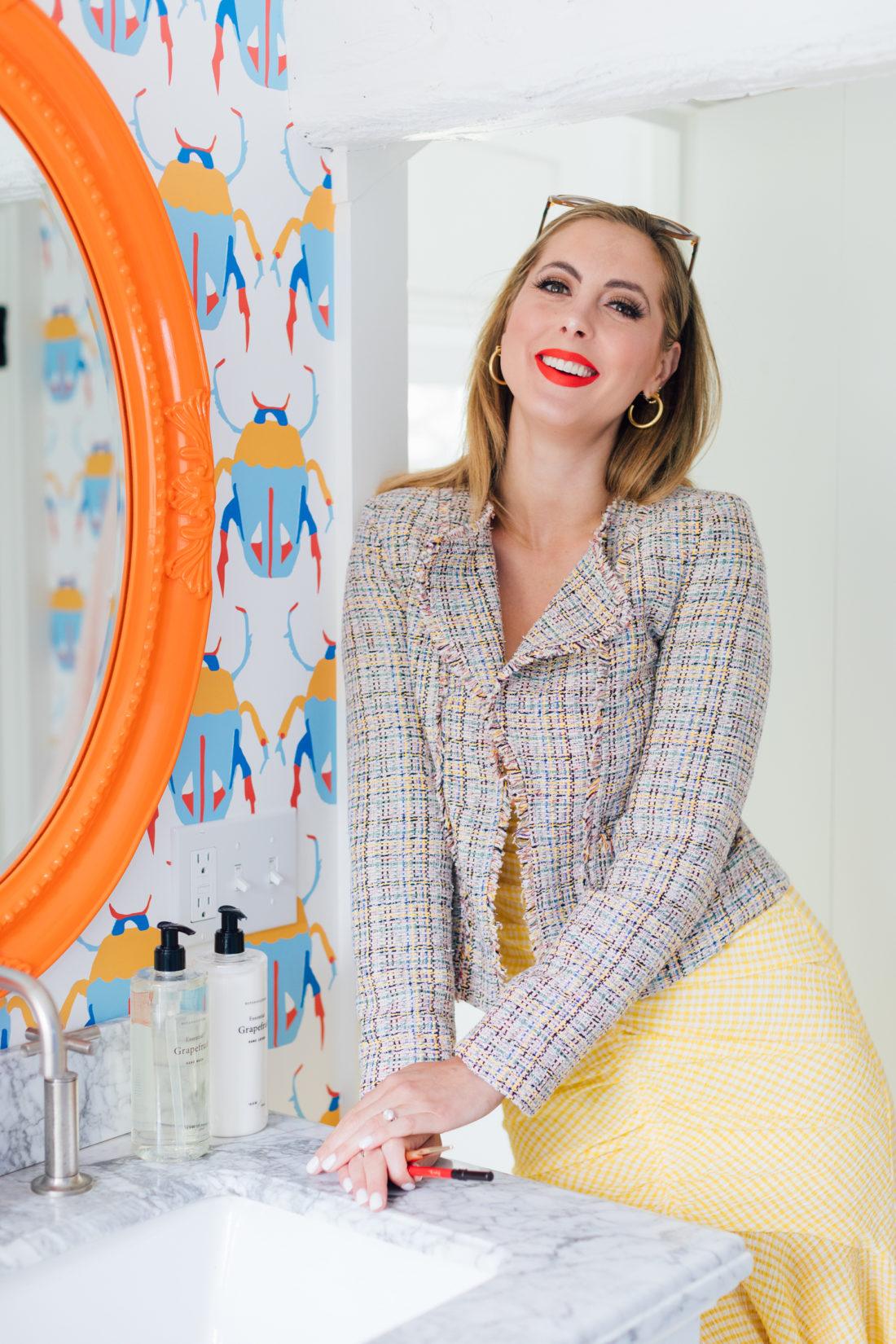 Eva Amurri Martino shares her makeup tutorial for a bold summer red lip