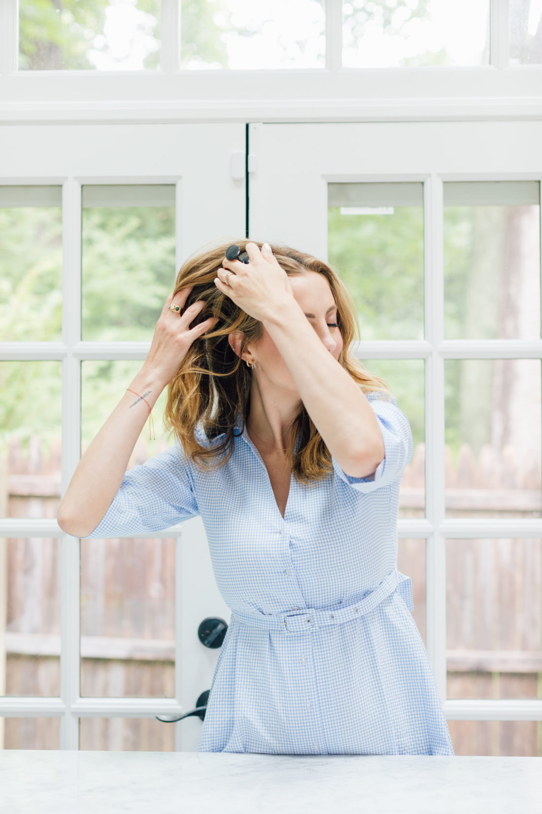 Eva Amurri Martino shares her favorite scalp massage shampoo brush from Heeta