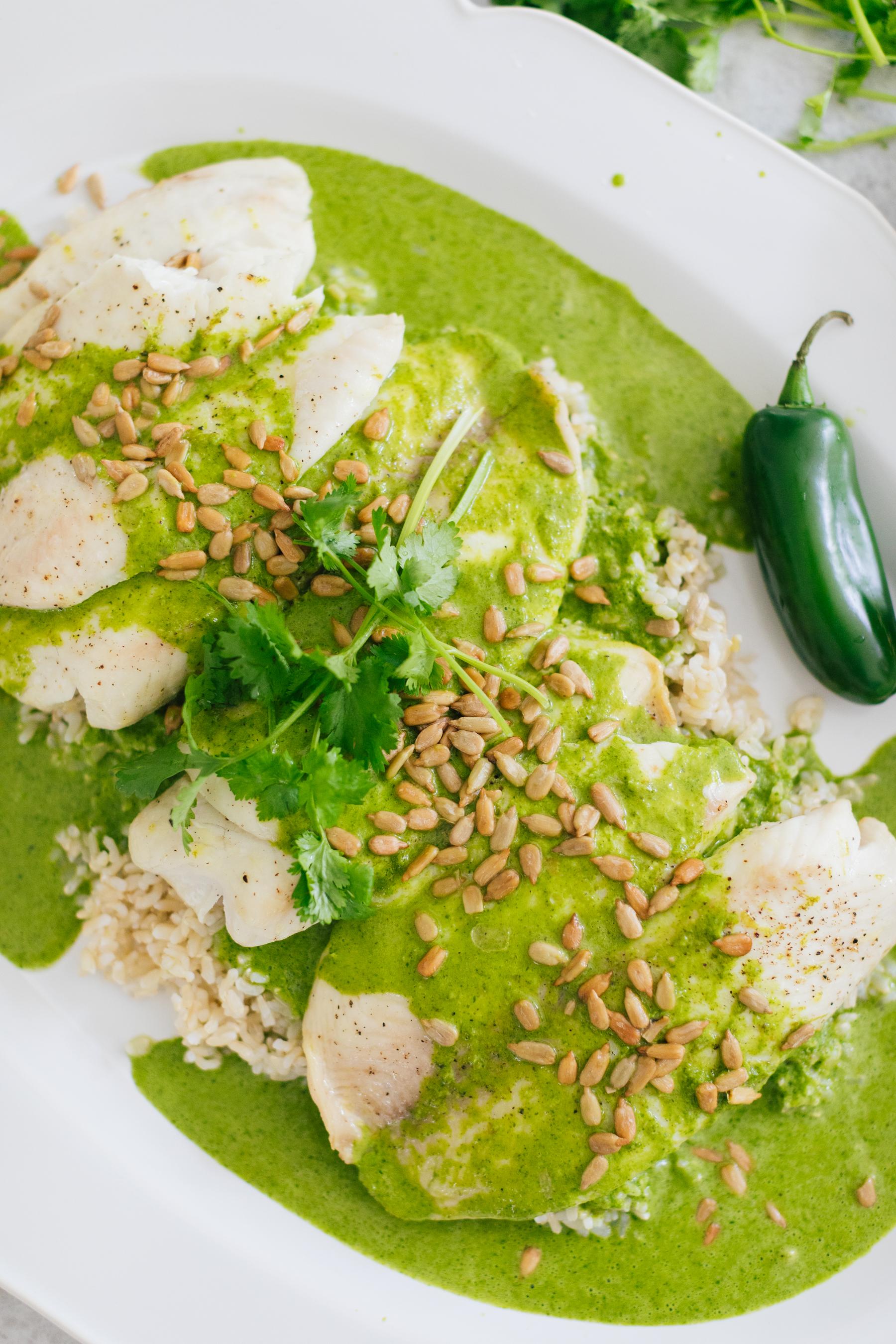 Eva Amurri shares Buster's Famous Green Fish Recipe