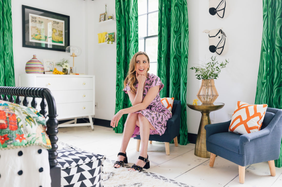Eva Amurri Martino sits in son Major's new bedroom at their home in Westport