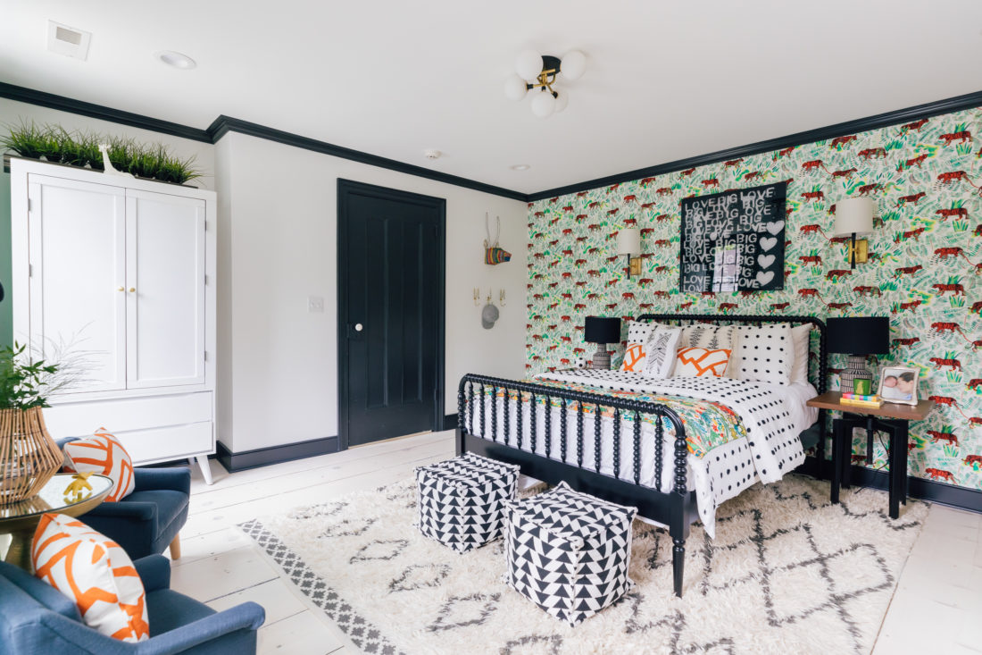 Constrasting patterns inside Eva Amurri Martino's son Major's new bedroom