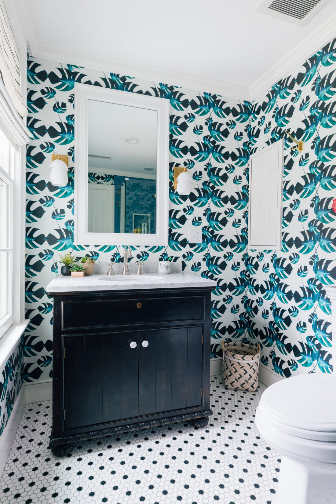 Eva Amurri Martino's son Major's Bathroom Reveal in their renovated Westport home