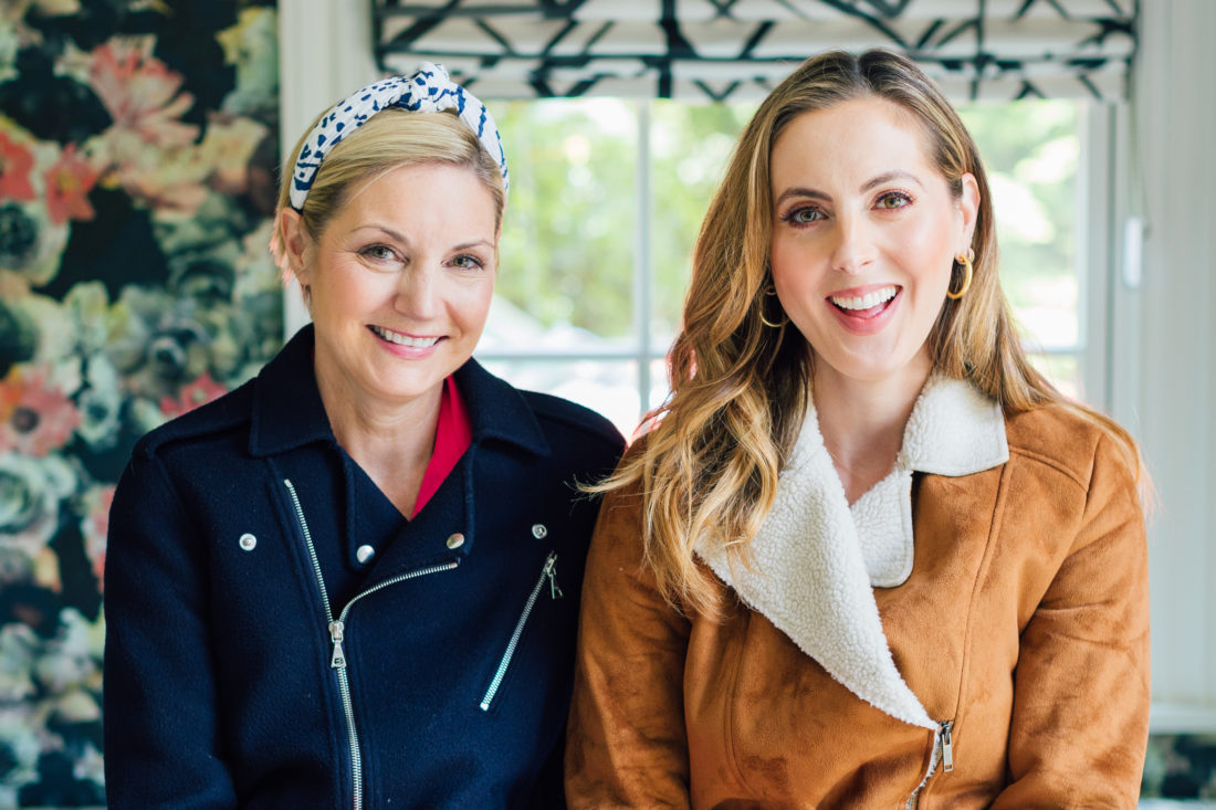 Eva Amurri Martino and interior designer Prudence Bailey inside Eva's son Major's new Westport bedroom