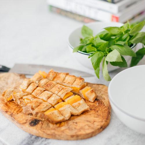 Eva Amurri Martino shares her Grilled Cheese Croutons Recipe