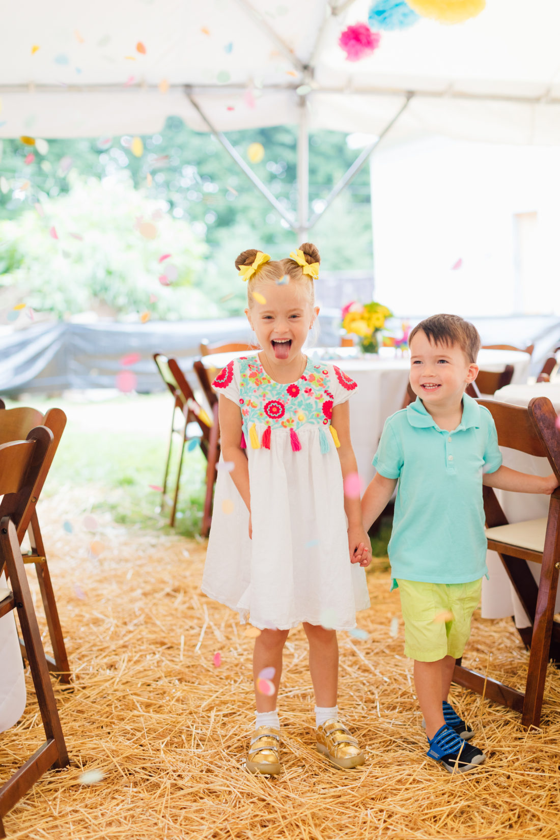 Marlowe Martino and brother Major at her Cinco de Marlowe themed 5th birthday fiesta