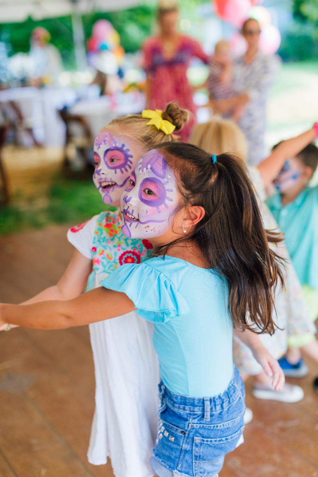 Marlowe Martino dances with a friend at her Cinco de Marlowe themed 5th birthday fiesta