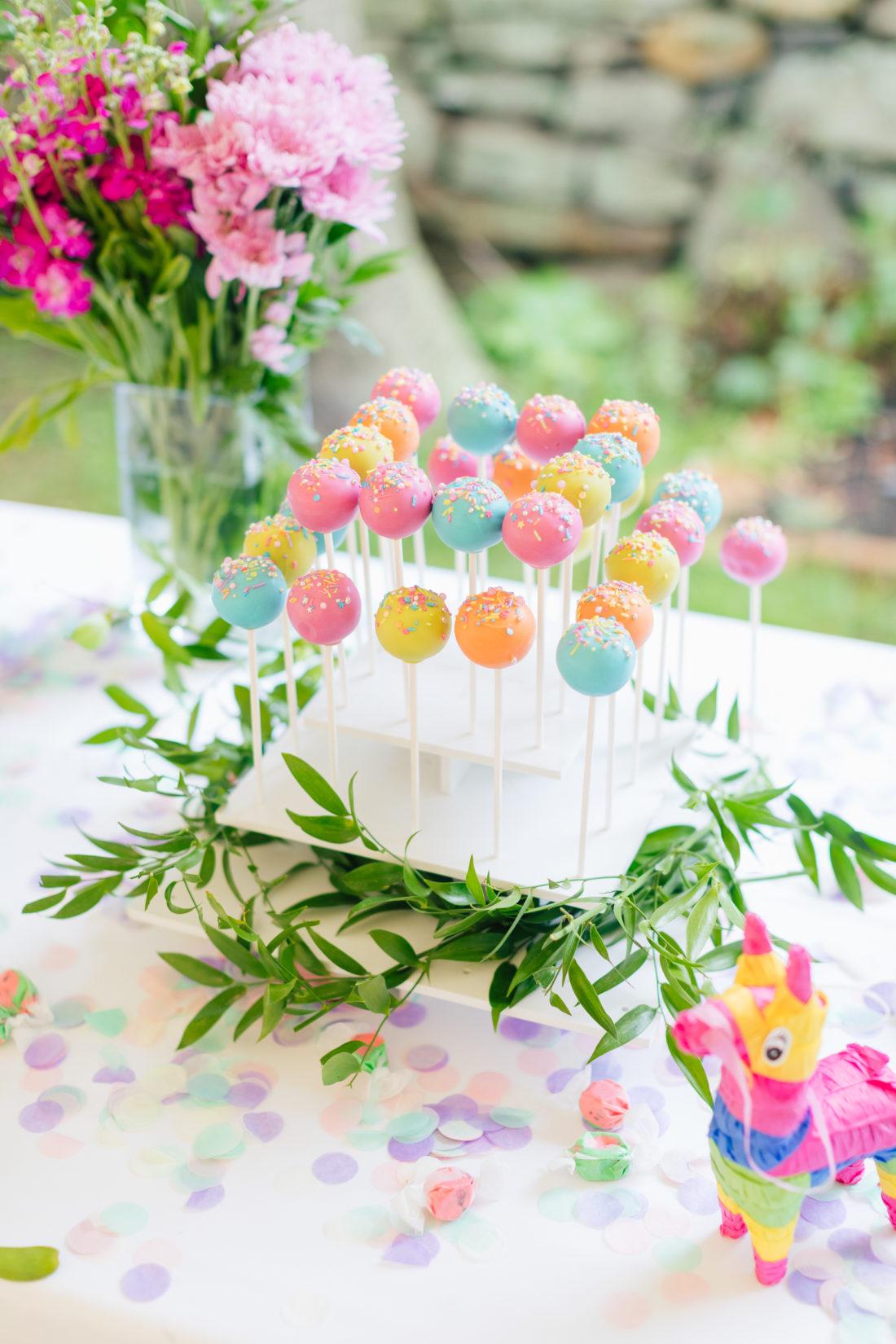Cake Pops at Marlowe Martino's Cinco de Marlowe themed 5th birthday fiesta