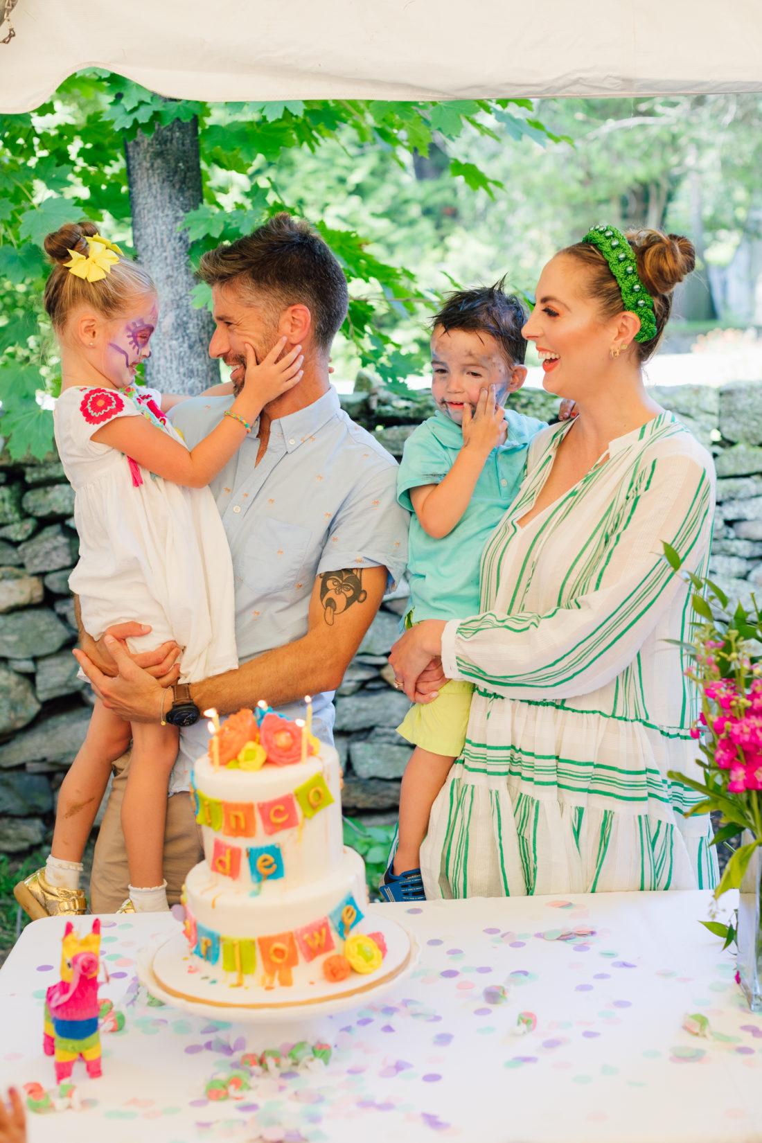 The Martino family singing Happy Birthday to daughter Marlowe Martino's Cinco de Marlowe themed 5th birthday fiesta