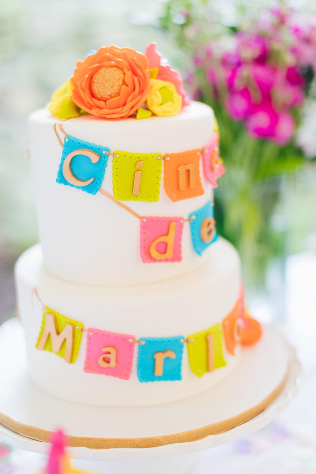 Marlowe Martino's Cinco de Marlowe themed 5th birthday cake