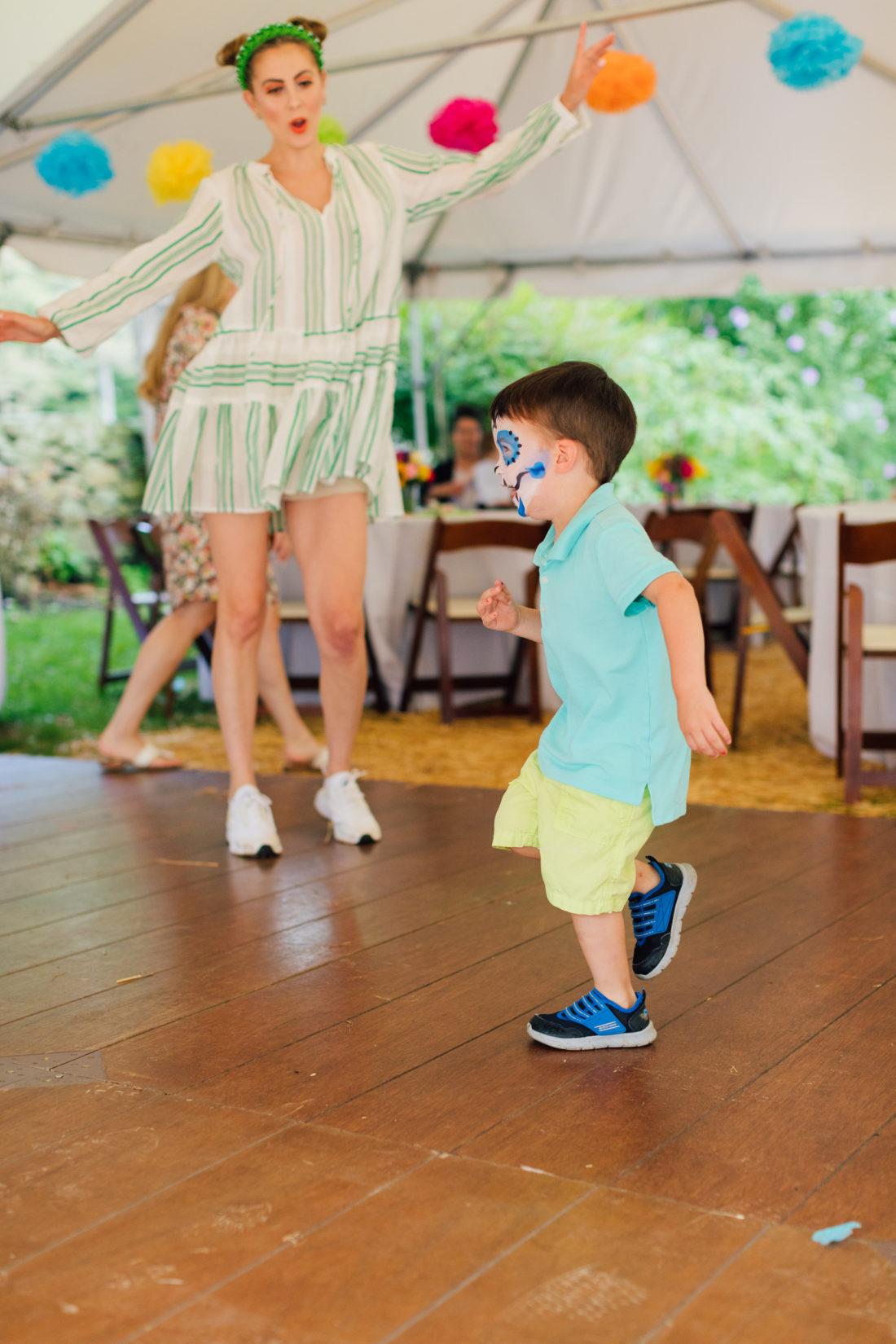 Eva Amurri Martino dances with son Major at daughter Marlowe's Cinco de Marlowe themed 5th birthday fiesta