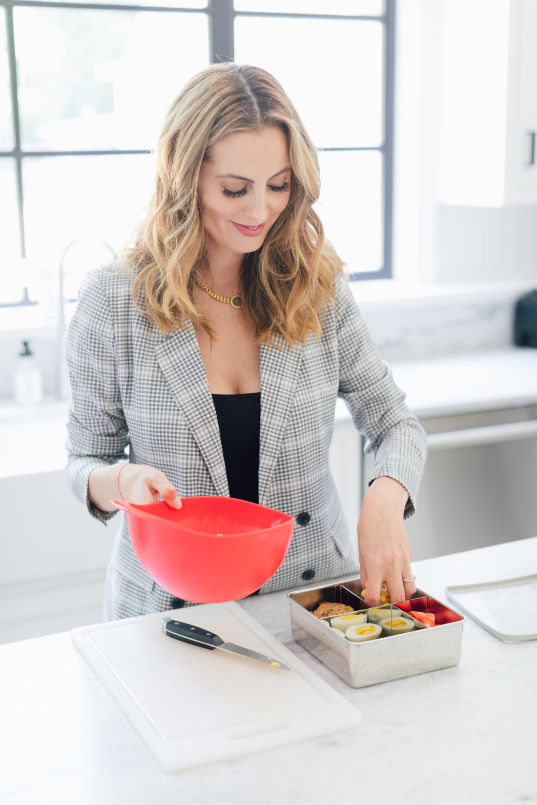 Eva Amurri Martino shows one of her 3 easy lunch box ideas