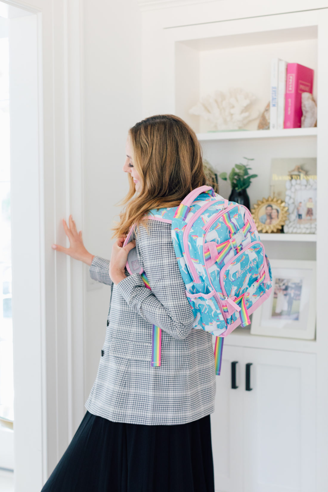Eva Amurri Martino packs up daughter Marlowe's lunchbox in her backpack