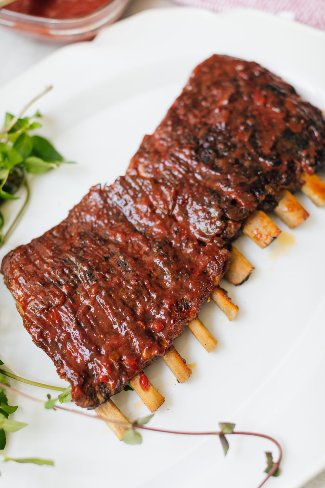 Eva Amurri Martino's Dry Rubbed Ribs With Stone Fruit BBQ Sauce