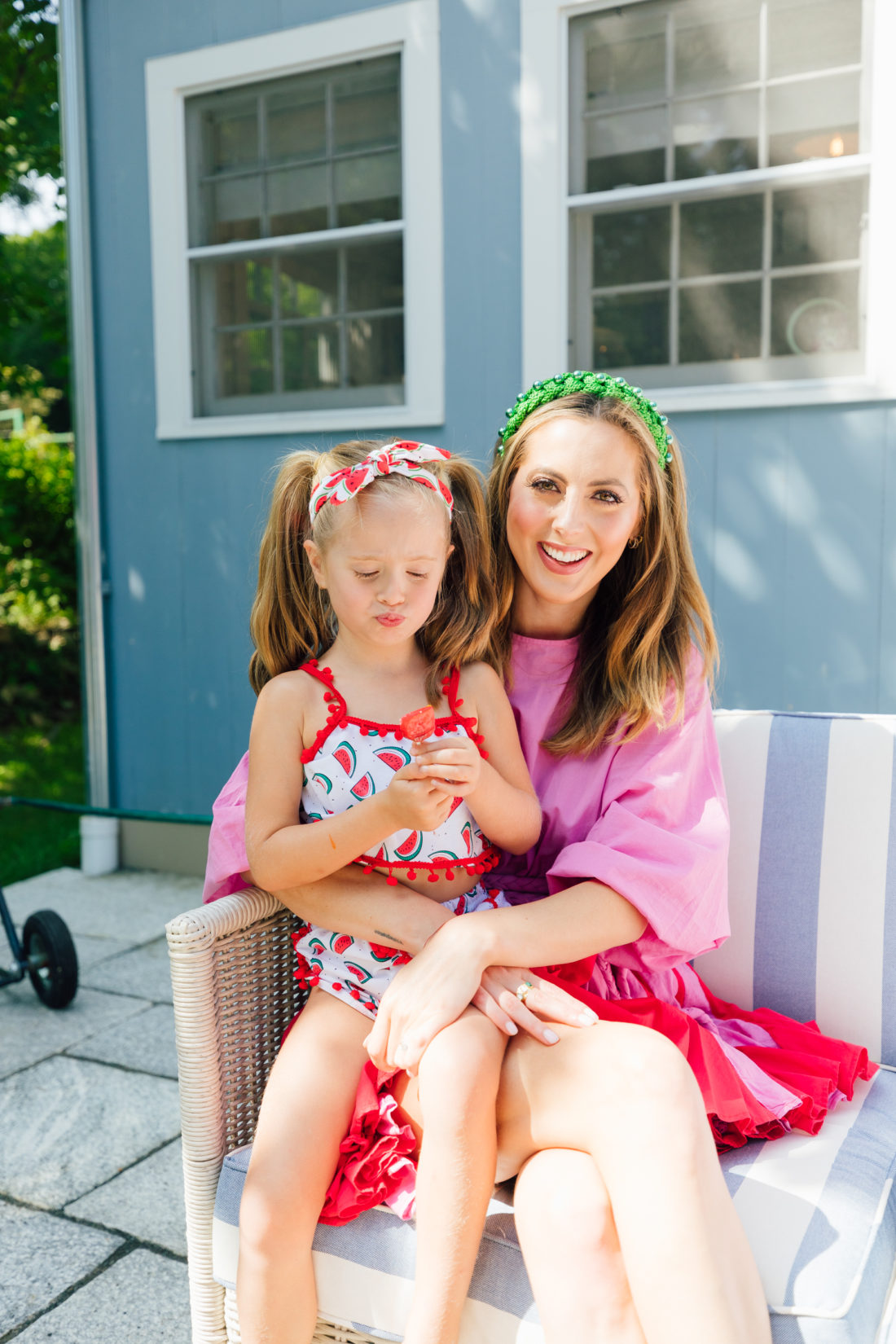 Eva Amurri Martino sits with daughter Marlowe on her lap