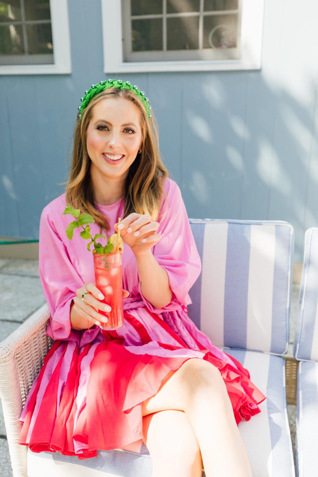 Eva Amurri Martino sips on a watermelon mojito