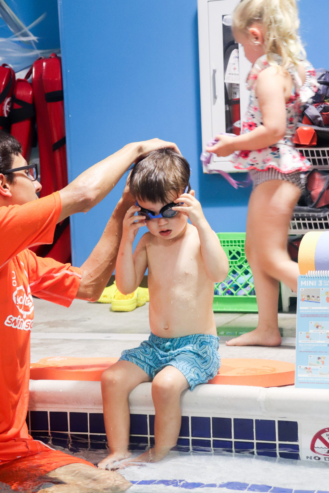 Kids water safety is a priority for the Martino family which is why they enrolled their kids in swim lessons