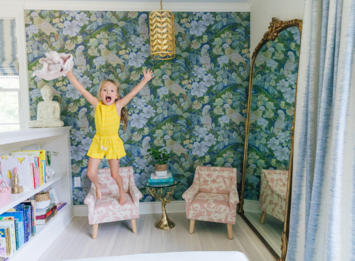 Marlowe Martino jumps for joy inside her colorful new bedroom