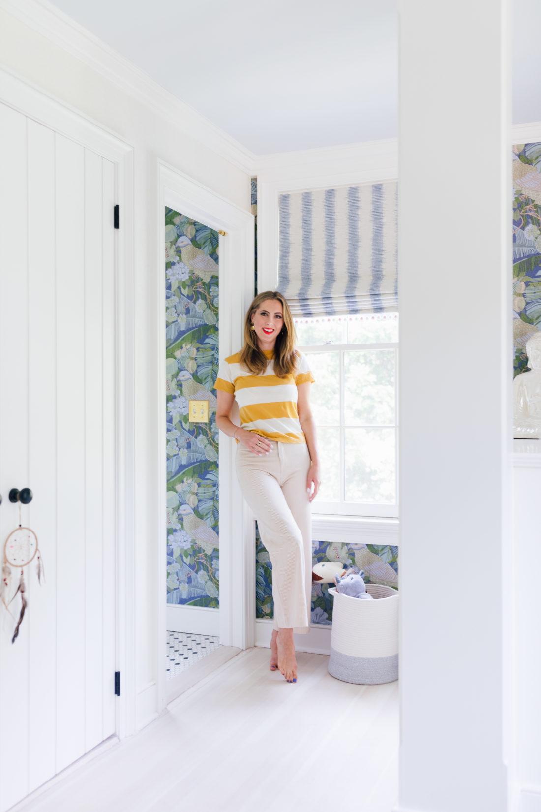 Eva Amurri Martino stands in daughter Marlowe's brand new bedroom