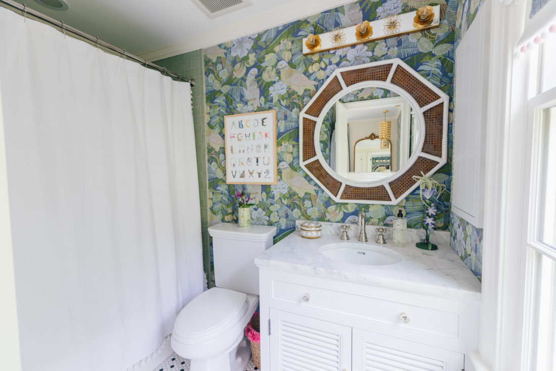 Marlowe Martino's colorful new ensuite bathroom reveal
