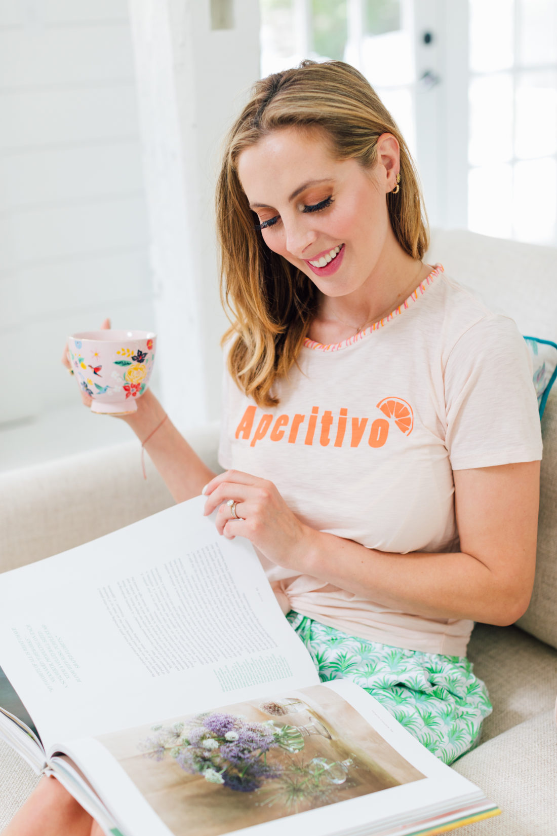 The final product of Eva Amurri Martino's embroidered tee DIY