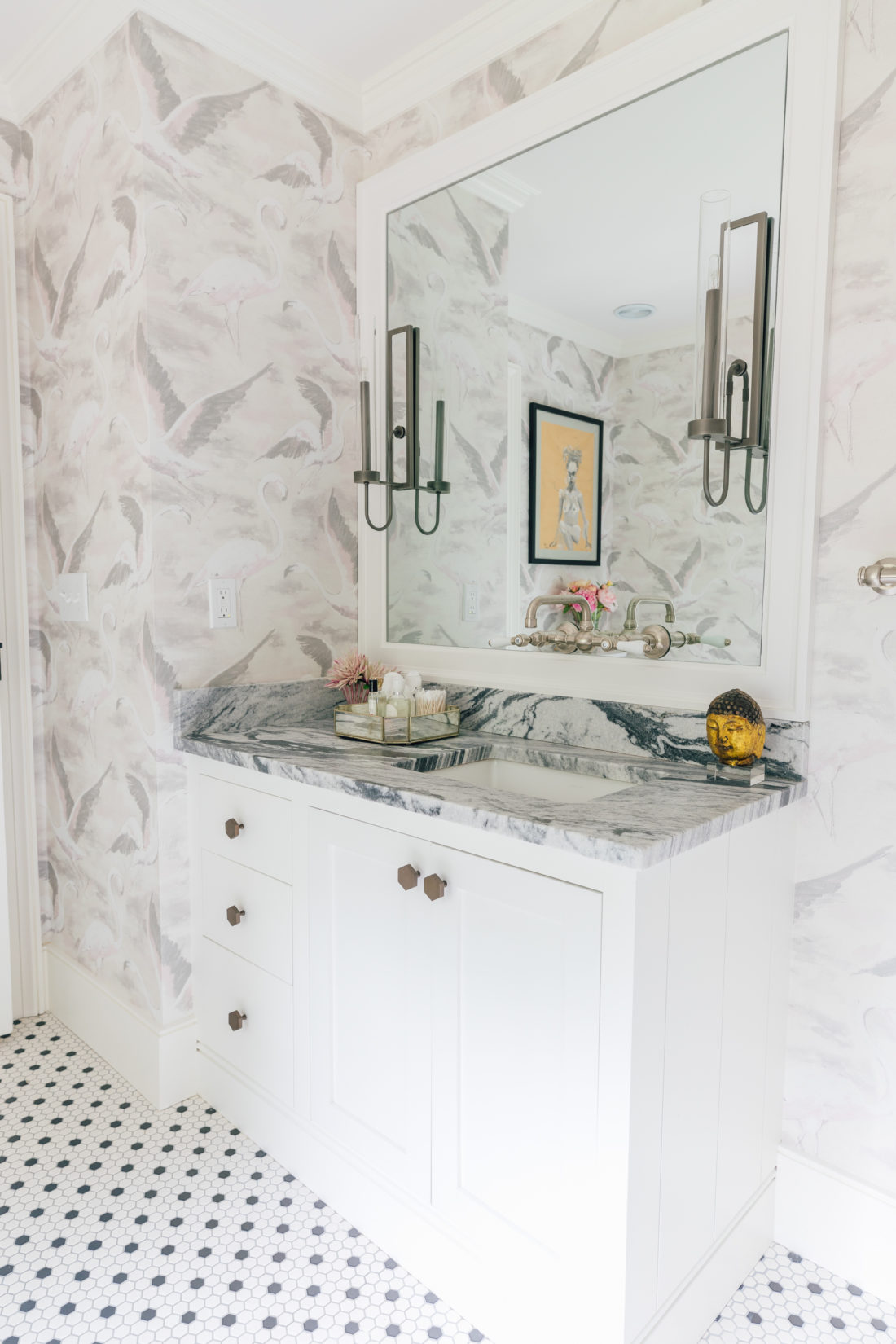 The vanity in Eva Amurri Martino Master Bathroom