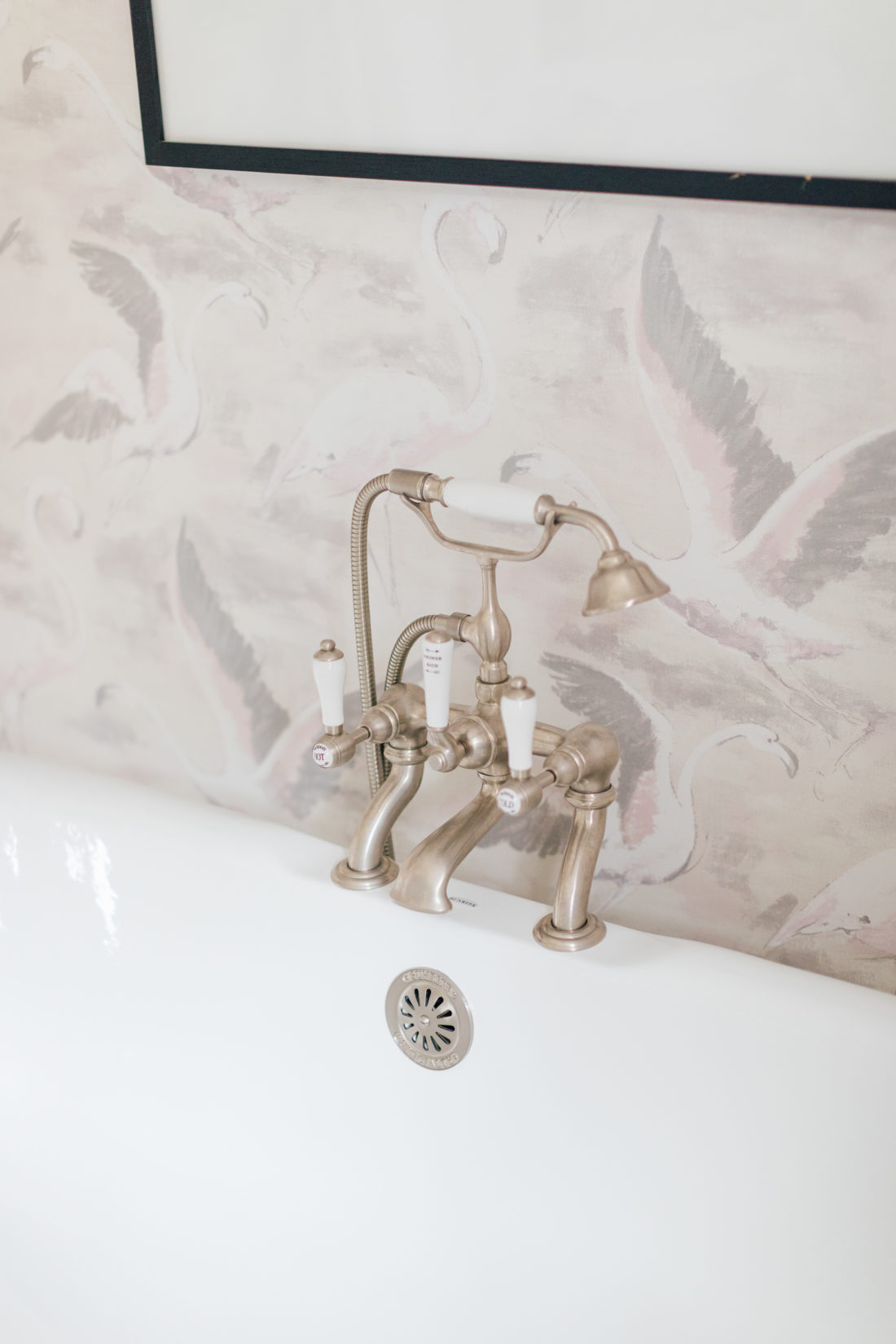 Bathtub hardware in Eva Amurri Martino Master Bathroom