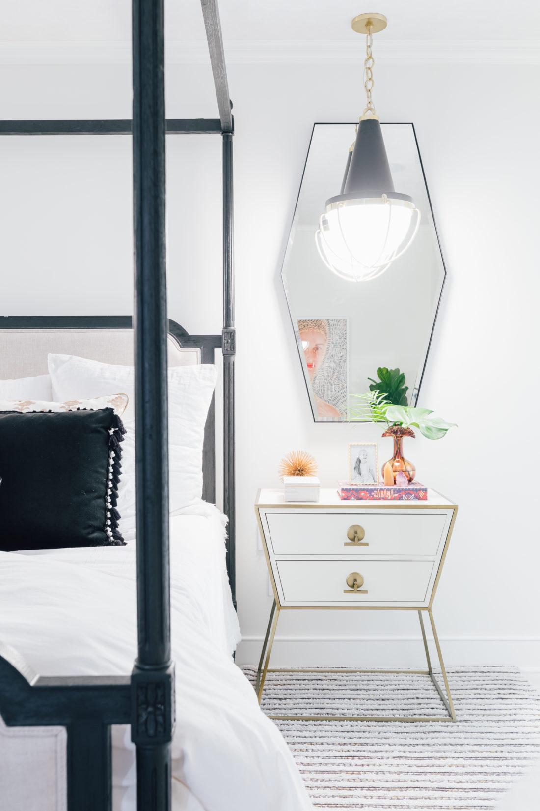 The side tables inside Eva Amurri Martino's new master bedroom