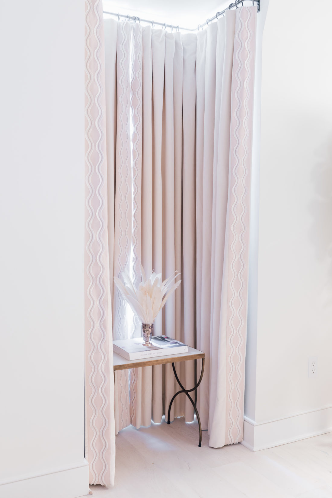 The luxe velvet curtains inside Eva Amurri Martino's brand new master bedroom
