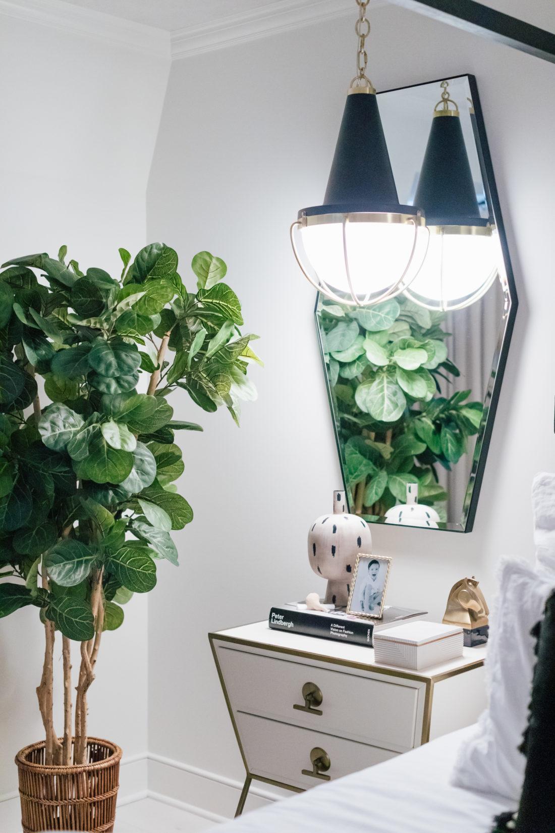 Bedside tables and pendant lights inside Eva Amurri Martino's new master bedroom