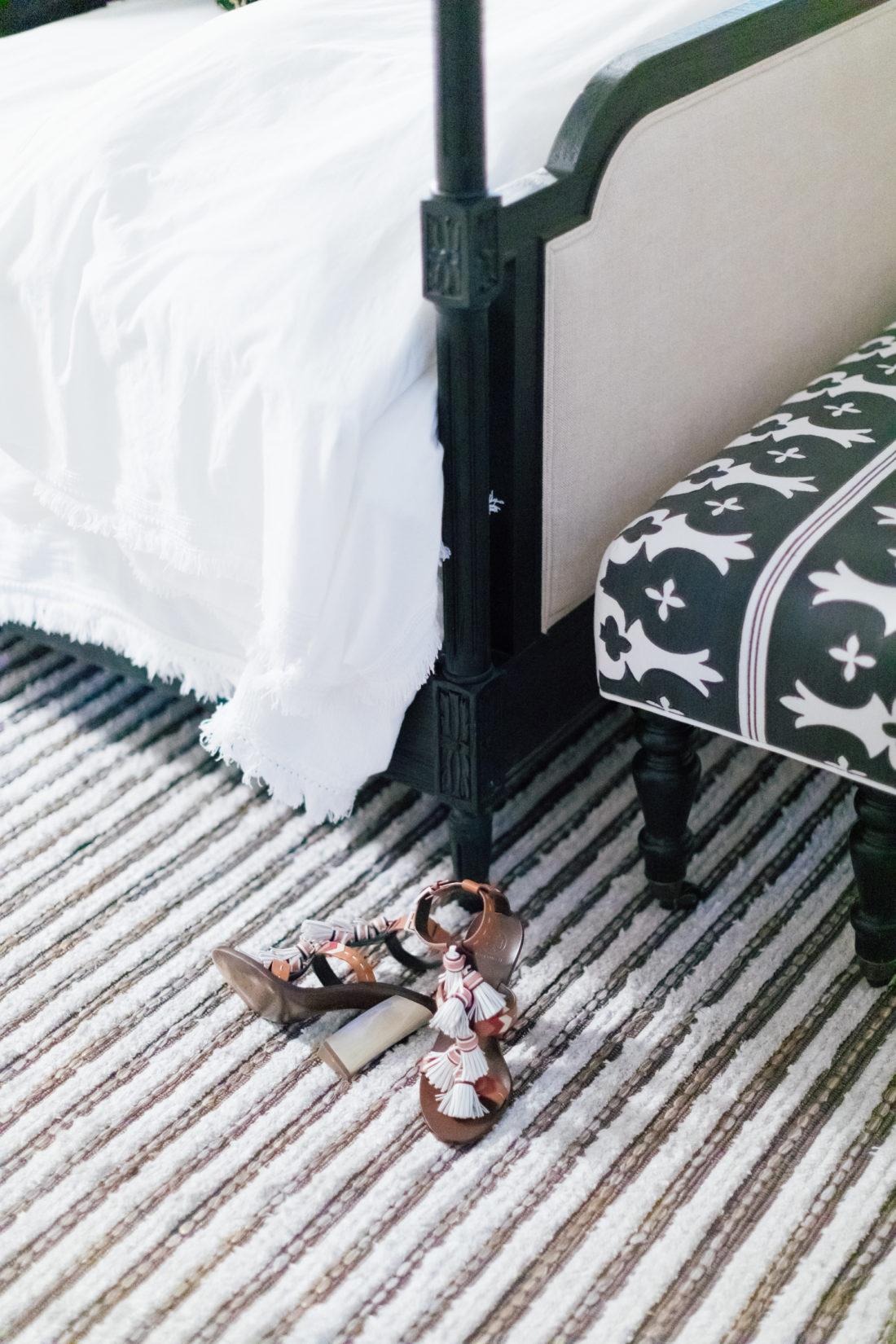 The custom rug in Eva Amurri Martino's new bedroom