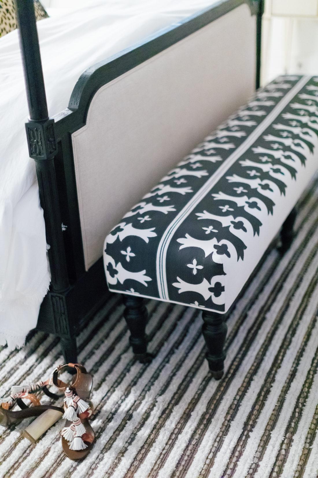 The custom bench in Eva Amurri Martino's new master bedroom