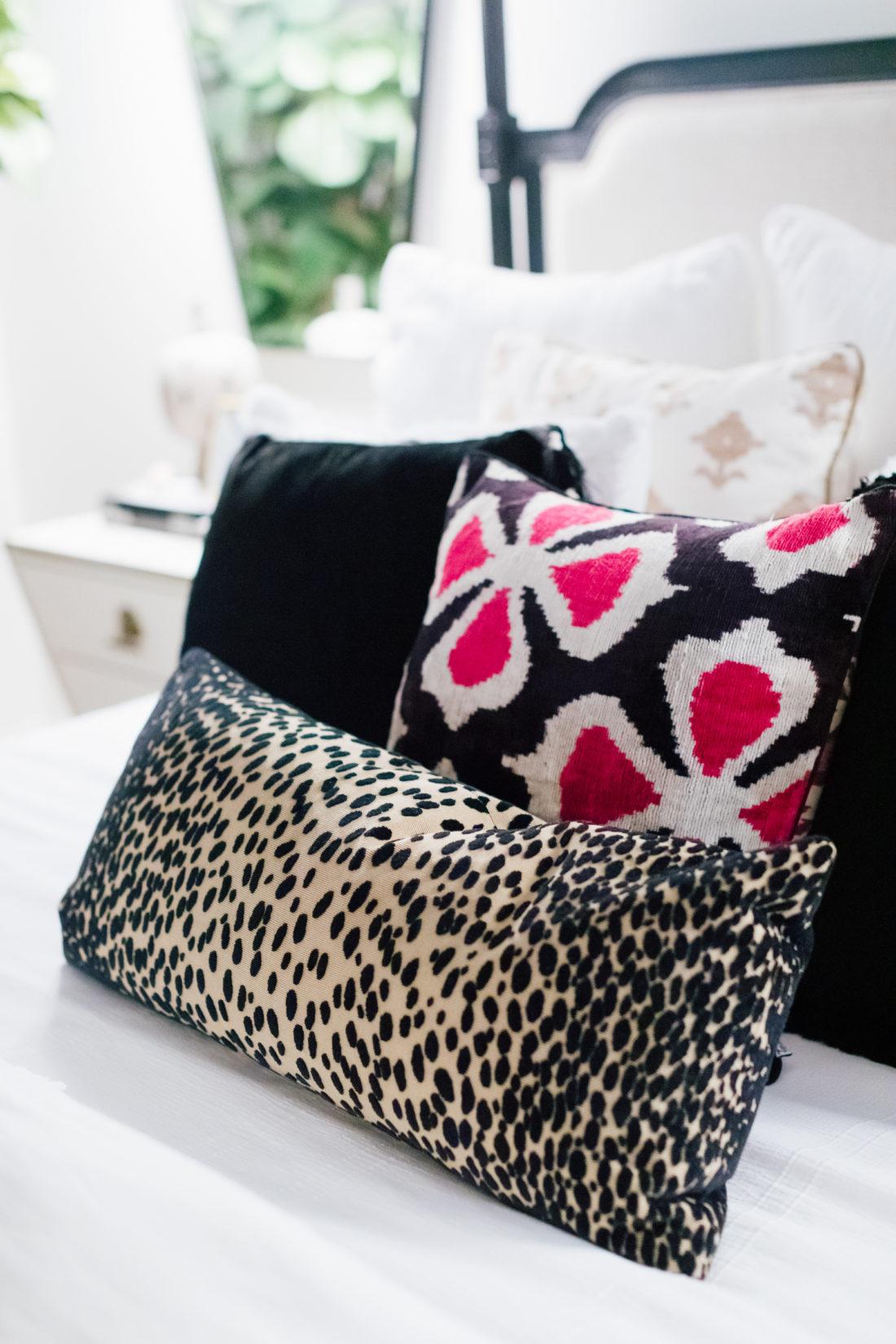 The pillows inside Eva Amurri Martino's new master bedroom